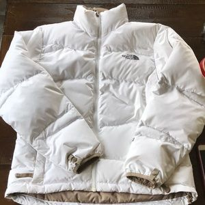 EUC north face white 550 down jkt size S